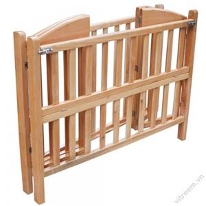 Giường cũi trẻ em gỗ sồi VTE_GC_01