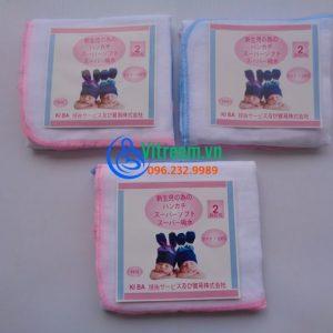 Khăn sữa Kiba xuất Nhật 2 lớp