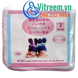 Khăn sữa Kiba xuất Nhật 3 lớp