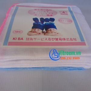 Khăn sữa Kiba xuất Nhật 4 lớp