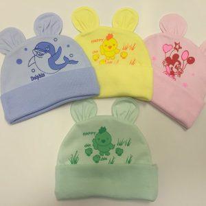 Mũ tai thỏ in hình